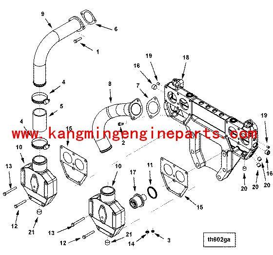 CCEC marine ship parts KT38 gasket connection 206460