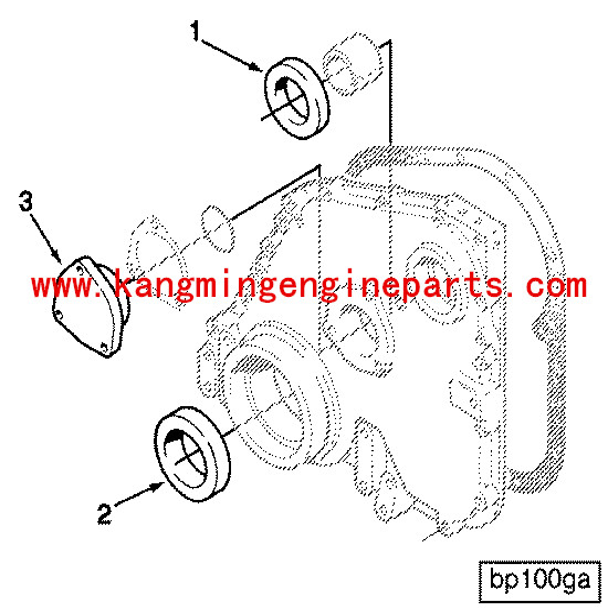Spare Part Nta 855 Crankshaft Front Seal Oil 3006736