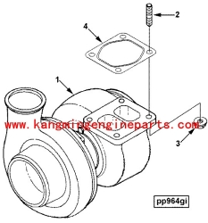 Diesel engine parts 4039265 turbocharger 6CT truck parts