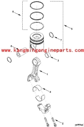 hubei engineparts b series 3802919 set piston ring