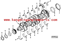 Engine parts 6B 4B crankshaft 3929037 generator spare parts